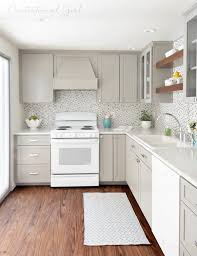 Kitchens with white appliances Cream Greige Kitchen Cabinets White Appliances Glass Tile Backsplash Little House Of Could White Appliances As Design Feature In The Kitchen Little House