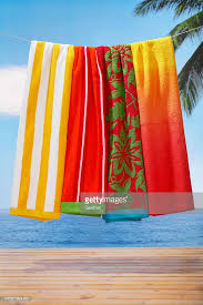 Image Ideas Beach Towels Hanging Above Deck Sea In Background Stock Photo Getty Images Beach Towels Hanging Above Deck Sea In Background Stock Photo