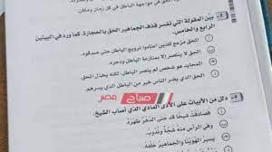 صور تسريب امتحان اللغة العربية ثانوية عامة أدبي 2021 بالاجابات - موقع صباح  مصر