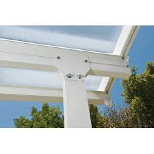 palram feria 20 ft w x 13 ft d polycarbonate patio cover white clear com