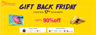 for the first time ever tcs sentiments express being the market leader in gifting and occasion based services is launching gift back friday