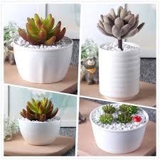 white garden pots new small decorative creative ceramic flowerpot kawaii planters jardin bonsai desk succulent flower white garden pots decorationwhite