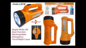 Onlite Rechargeable Light Onlite L287b Bright White 2w Dual Function Rechargeable Emergency Torch Night Lamp