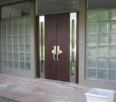 exterior steel double doors. Furniture Large Dark Brown Varnished Double Steel Doors With Glass Regard To Exterior S