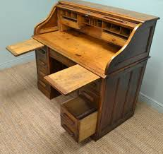 antique roll top desk small oak mini organizer with drawers 1224