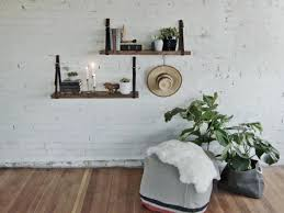 floating shelves made from old belts
