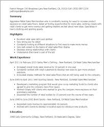 Resume Template. Sample Resume For Merchandiser Job Description ...