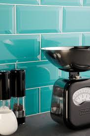such a pretty back-splash - vibrant, Colorado glass bevelled tiles from the  Glassworks