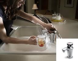 invite contour instant hot water faucet in sink erator
