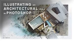 Architecture Design Photoshop Illustrating An Architectural Plan In Photoshop Narrated Full Tutorial Realtime