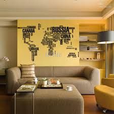World Map Home Decor Kids World Map Wall Stickers Home Decor Boys Room Wall Decals Map