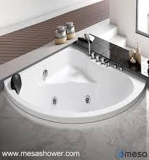 corner installation drop in solid surface sector acrylic bath tub