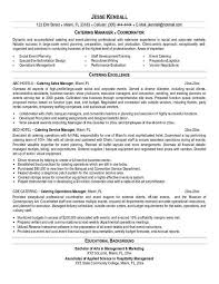 Catering Resume Example Beauteous Catering Resume