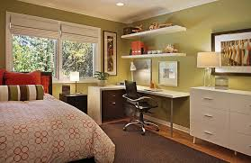 bed in office. Chic Bedroom Featuring A Compact Workstation In The Corner If Needed You  Can Turn Your Into Own Home Office Bed Office B