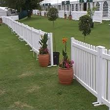 pvc white plastic fence garden fence