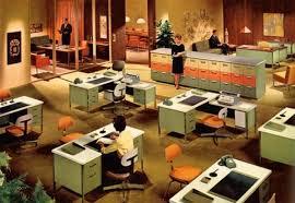 Retro Midcentury Modern Office Interior Design Furniture