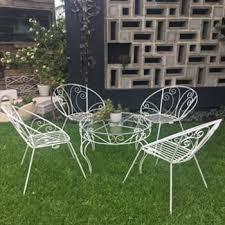 1950s metal outdoor garden setting