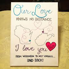10 ideal romantic ideas for long distance relationships canvas art i made for my roommate to
