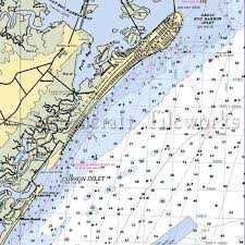 New Jersey Corson Inlet Ocean City Nautical Chart Decor