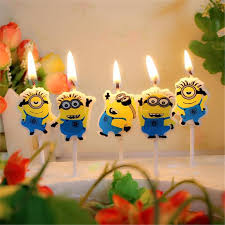 <b>5PCS</b>/<b>pack</b> Candle Design Lovely Minion Cartoon Cute For Boy and ...