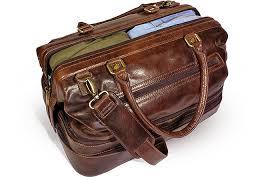 gent supply leather duffle adventure bag weekender