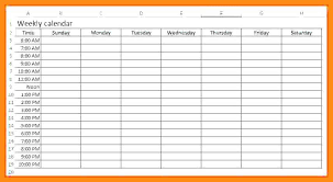 Weekly Calendar With Times Template Weekly Calendar Template With Times Beautiful 2 Week