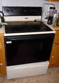 magic chef self cleaning glass top electric range model 3868xva black cur 41