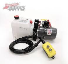 premium supply trailer hydraulic pumps, hoists, cylinders, and Dump Trailer Pump Wiring Diagram 3 quart 24v kti double acting hydraulic pump wiring diagram on a dump trailer pump system