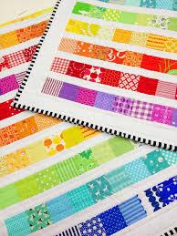 Best 25+ Rainbow quilt ideas on Pinterest | Robert kaufman fabric ... & Rainbow Scrap Strip Quilt Tutorial Adamdwight.com