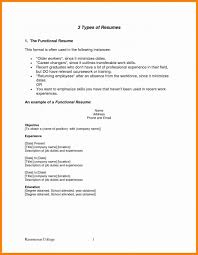 Functional Resume Format Awesome Resume Types Formats Resume Format