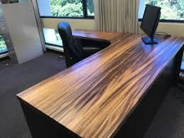 custom wood office furniture. Handmade Mahogany And Monkey Pod Wood Desk Custom Office Furniture