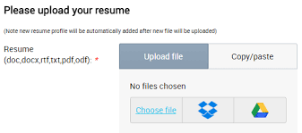 Job-board-software-job-seeker-features-upload-file. Google drive file  selection