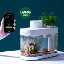 Bể cá mini thông minh để bàn Xiaomi Desgeo C Series 2021 trang trí có đèn  LED RGB