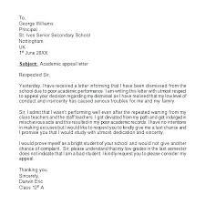 Letter Of Appeal Sample Template Gorgeous School Appeal Letter Template Ensite