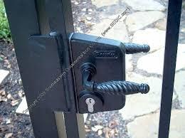 walk gate option gate locks iron
