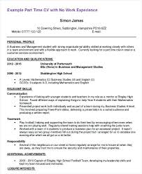 Part Time Job Cv Template Resume Sample For First Job Thesocialsubmit