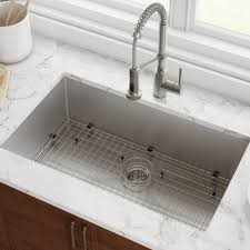 kraus standart pro 8482 32 inch 16 gauge undermount single bowl stainless steel