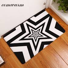 thin rugs that fit under doors warm doormat for entrance door dizzy laminated stars pattern
