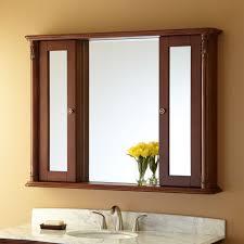 Wood Medicine Cabinet With Mirror Bathroom Recessed Medicine Cabinet Mirrored Recessed Medicine