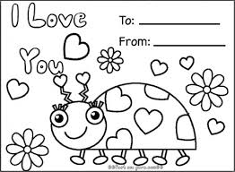 Small Picture Print out happy valentines day ladybug coloring cards Printable