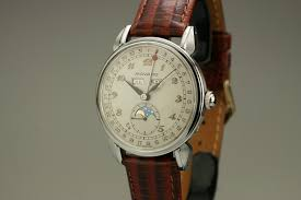 1950 movado triple date moon phase watch for mens vintage prev next close