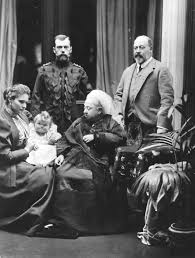 edward vii edward right his mother centre and russian relations tsar nicholas ii left empress alexandra and baby grand duchess olga nikolaevna 1896