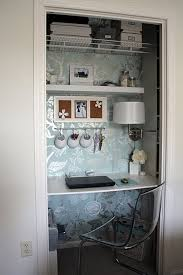 Office Room: Cool And Stylish Office In A Closet Design - Closet