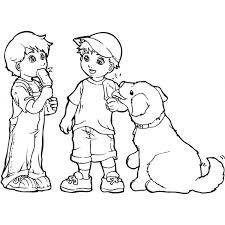 Disegno Di Bimbi Col Gelato Da Colorare Per Bambini