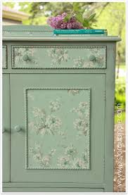 wallpapered linen press dresser. q is for quandie. - Wallpaper Zone.  Decoupage FurnitureDecoupage IdeasDiy FurniturePainted ...