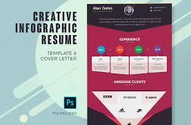 Artistic Resume Template Infographic Resume Cover Letter Creative Resume