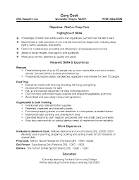 cook resume sample  vosvetenet