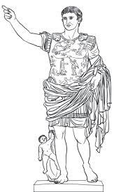 Augustus Van Prima Porta Standbeeld Kleurplaat Gratis Kleurplaten