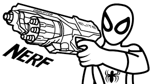 Small Picture Spiderman wiht Nerf Gun Elite Disruptor Coloring Book Coloring