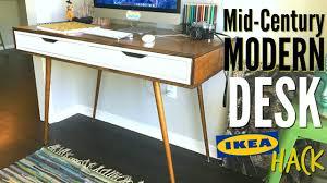 diy mid century modern desk ikea